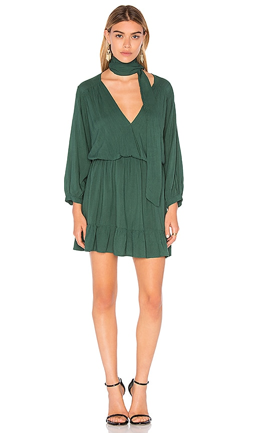 MLM Label Niro Ruffle Dress in Green