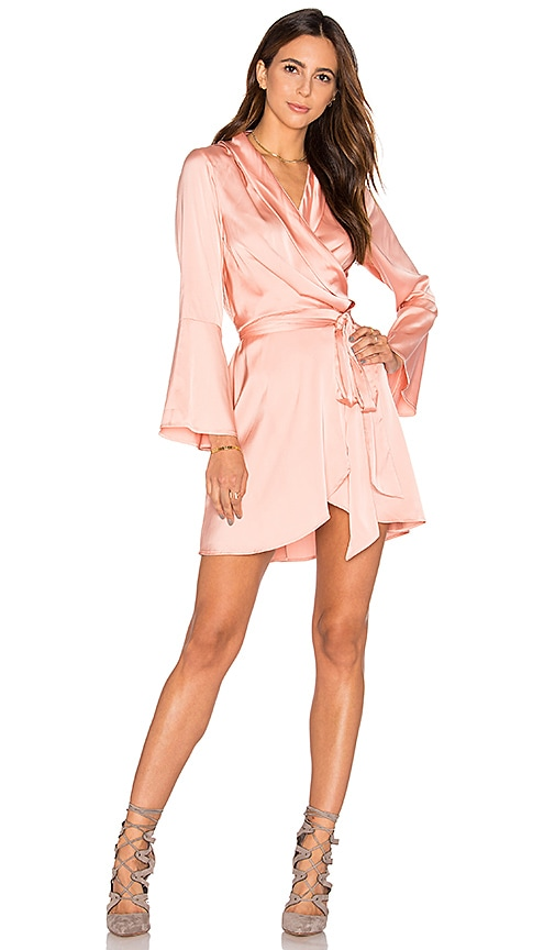 MLM Label Fjord Wrap Dress in Peach