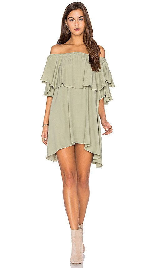 MLM Label Maison Shoulder Dress in Green