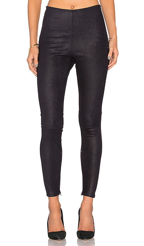 MLML High Waisted Suede Legging in Navy