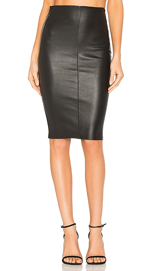 MLML High Waist Slit Skirt in Black