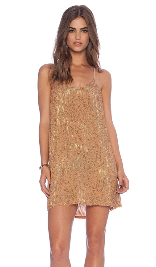 MLV Carmen Sequin Dress in Camel