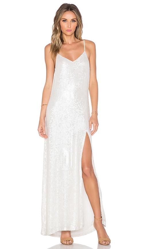 45fbafc32643d MLV London Sequin Maxi Dress in White   REVOLVE