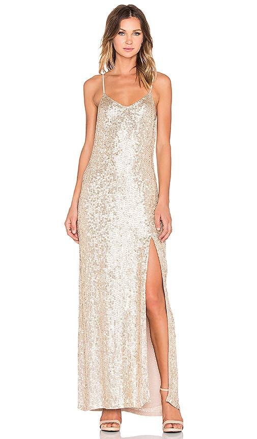 MLV London Sequin Maxi Dress in Gold
