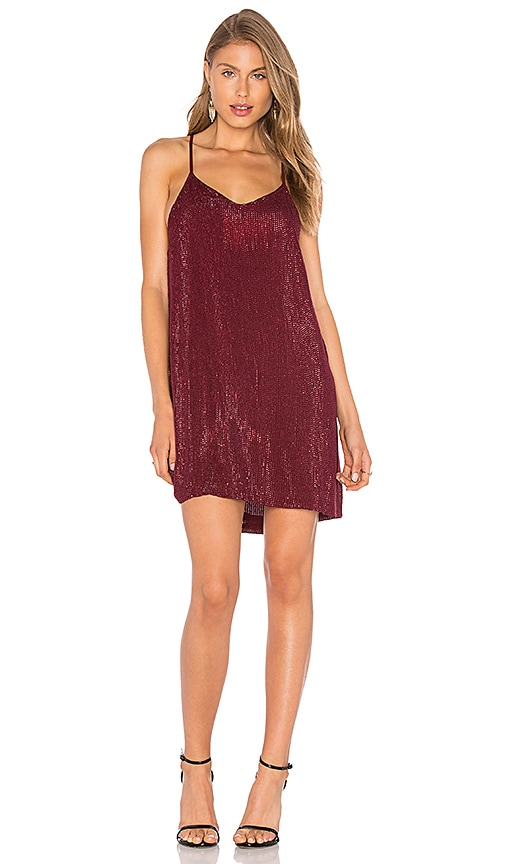 MLV Carmen Embellished Dress in Burgundy