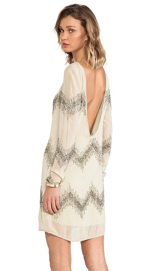 Alexa Long Sleeve Beaded Dress