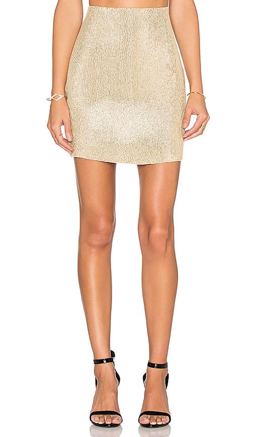 MLV Natalie Sequin Pencil Skirt in Gold
