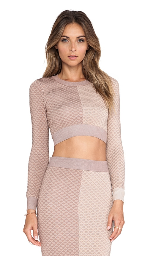 MLV Mara Argyle Crop Top in Nude