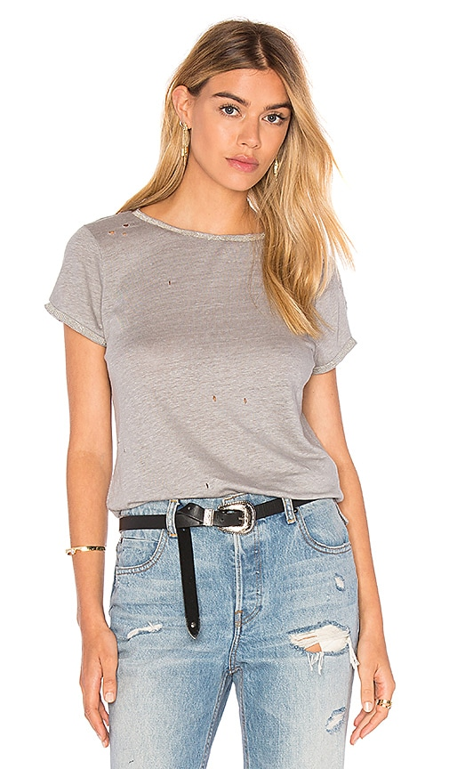 MLV Heather Embellished Top in Dove Grey