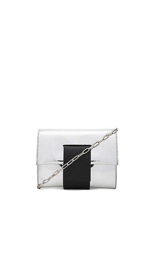 MM6 Maison Margiela Clutch in Metallic Silver