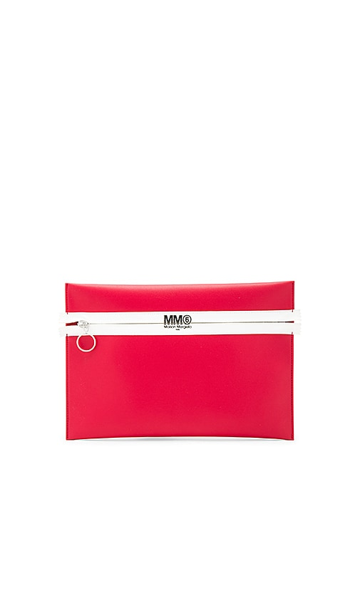 MM6 Maison Margiela Clutch in Red