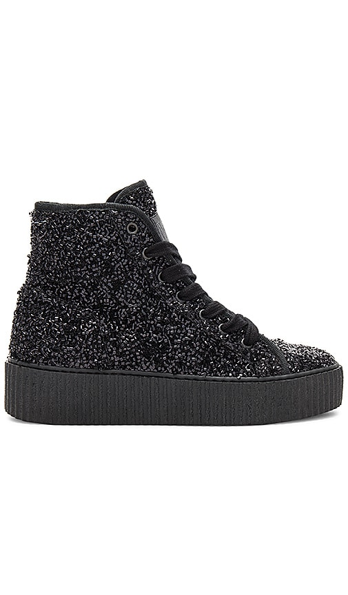 MM6 Maison Margiela Curly Hi Top Sneakers in Black