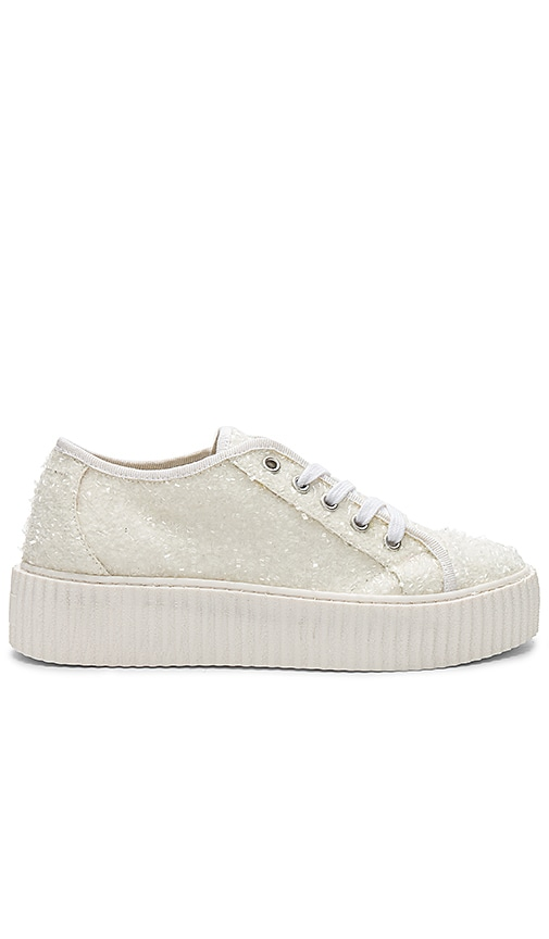MM6 Maison Margiela Curly Low Top Sneakers in White