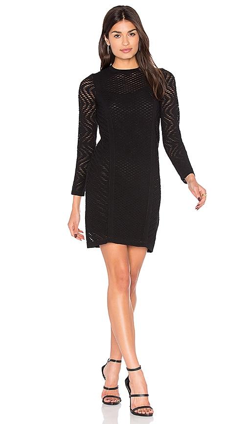 M Missoni Long Sleeve Mini Dress in Black