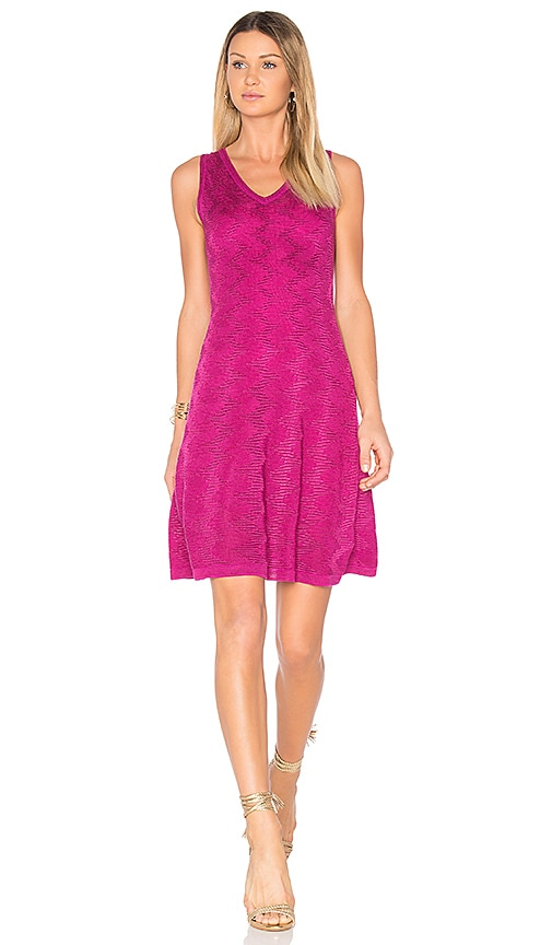 M Missoni Sleeveless Mini Dress in Purple