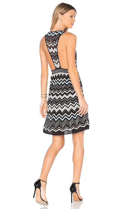 M Missoni Sleeveless V Neck Mini Dress in Black