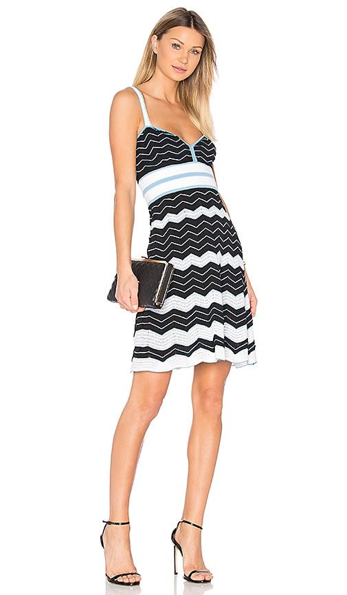M Missoni Sleeveless Sweetheart Neck Mini Dress in Black