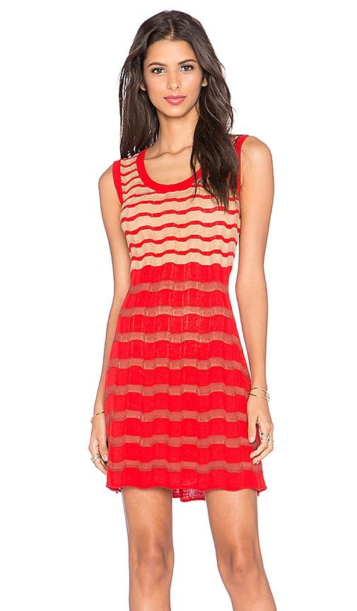 M Missoni Stripe Tank Dress in Red