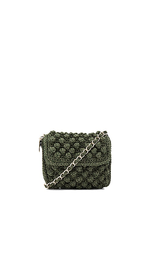 M Missoni Textured Crossbody Bag in Olive