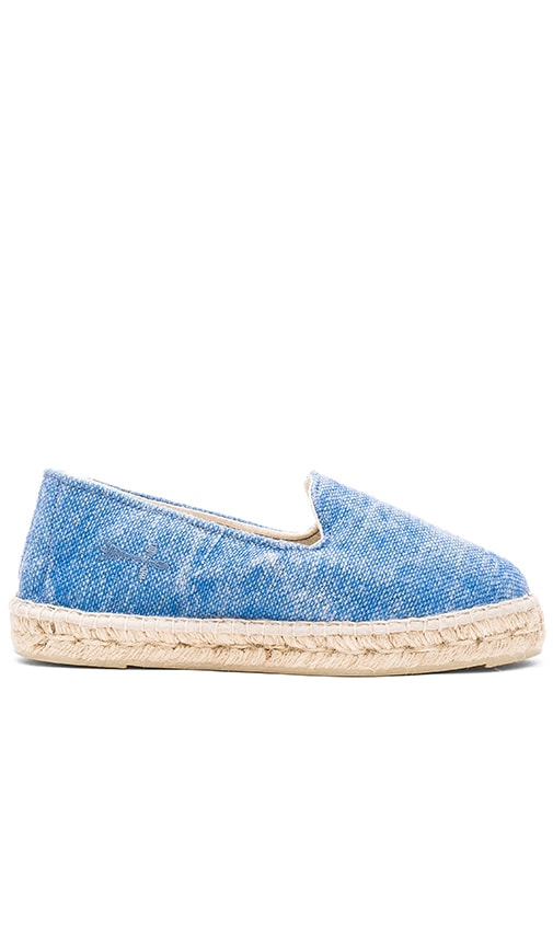 MANEBI La Havana Espadrille in Blue