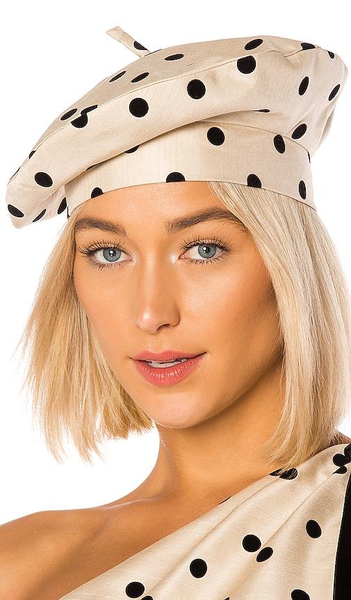 Polka Dot Beret Hat