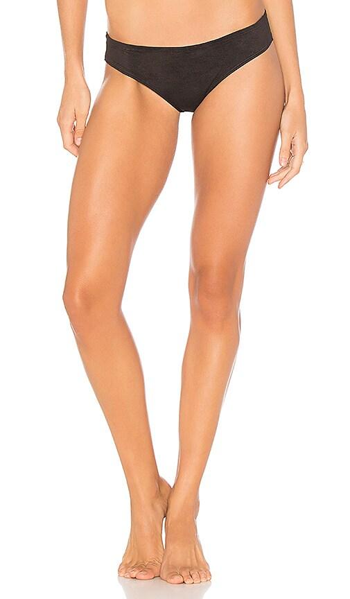 Montce Swim Nu Micro Bikini Bottom in Black
