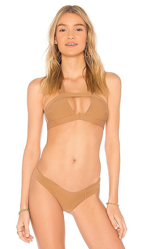 Montce Swim Dunes Bikini Top in Tan