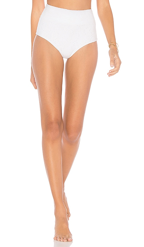 Montce Swim High Rise Bottom in White