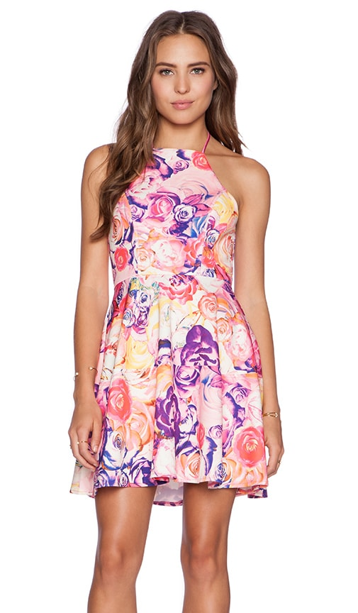 Minty Meets Munt Mess Around Dress in Summer Rose Print