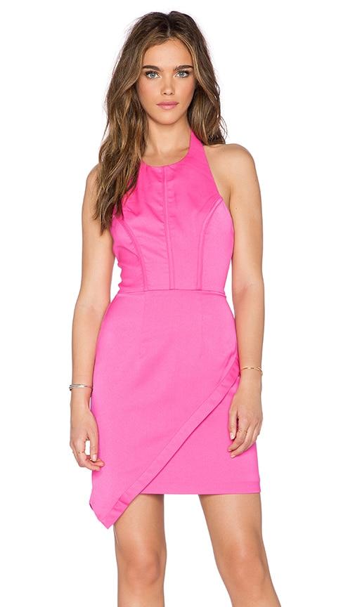 Minty Meets Munt Veronika Mini Dress in Hot Pink