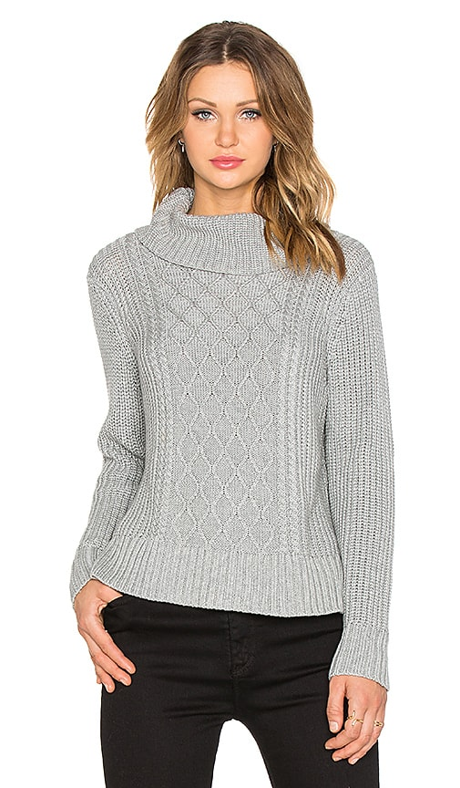 Minty Meets Munt Honeycomb Knit Sweater in Grey Malange