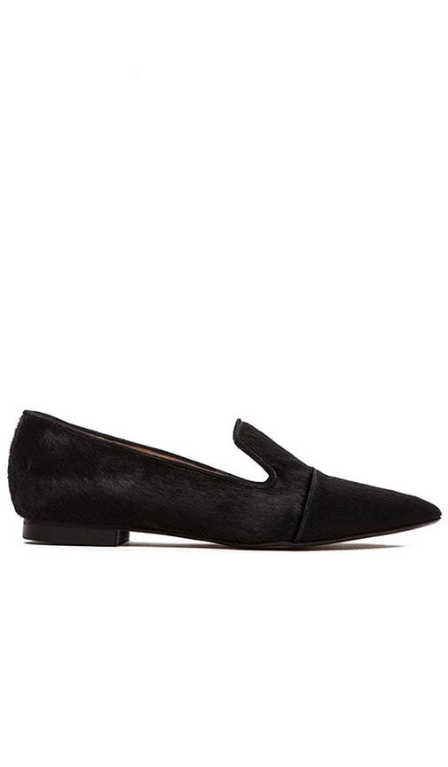 Point Loafer with Fur
