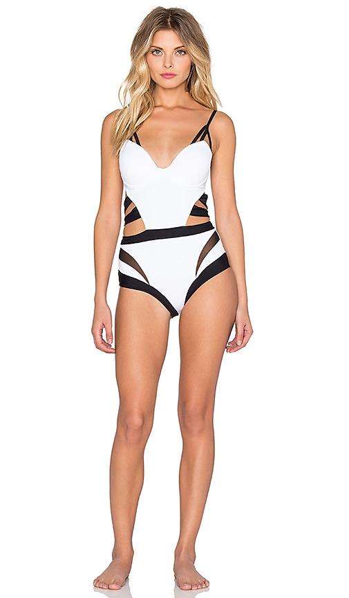 MOEVA Roxy Swimsuit in White & Black