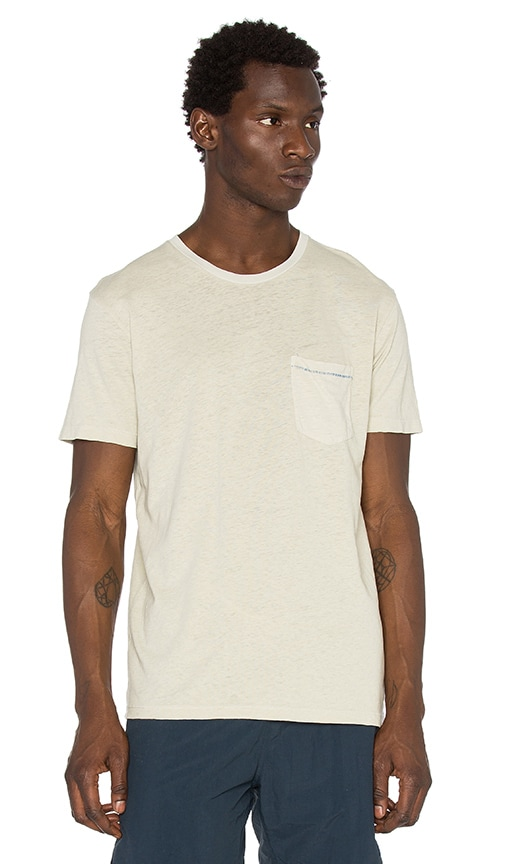 Mollusk Hemp Pocket Tee in Beige