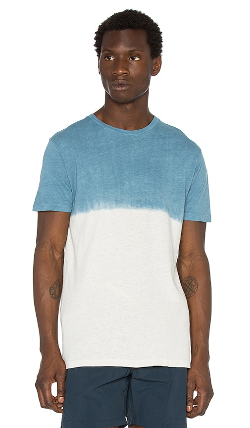Mollusk Dipped Hemp Tee in Blue