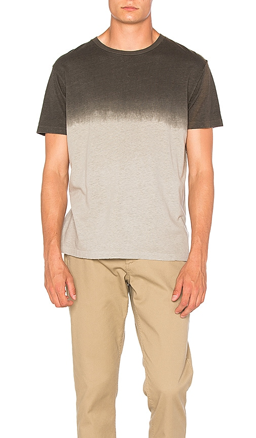 Mollusk Dipped Hemp Tee in Gray