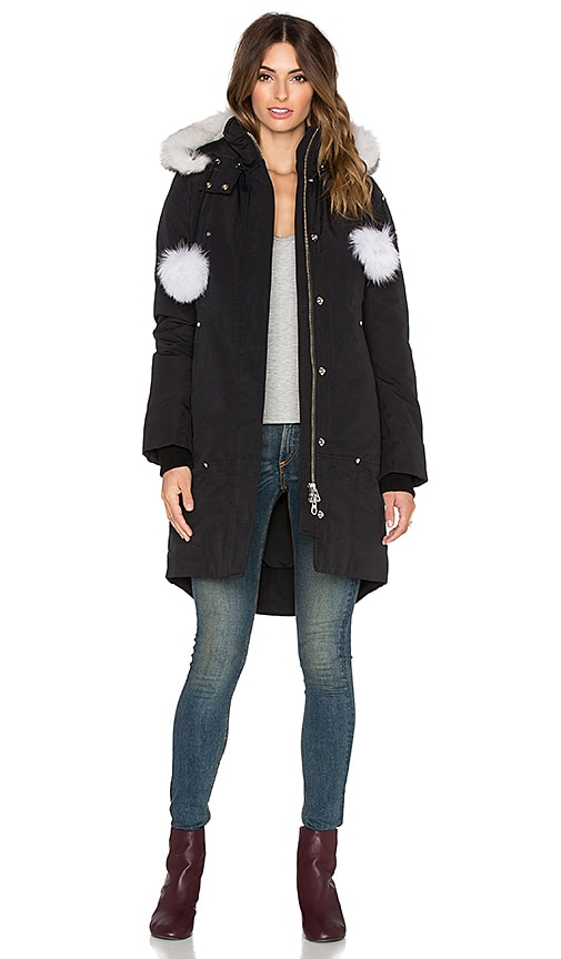 Stirling Blue Fox Fur Parka Jacket