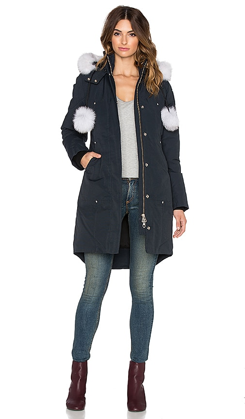 Stirling Natural Fox Fur Parka Jacket