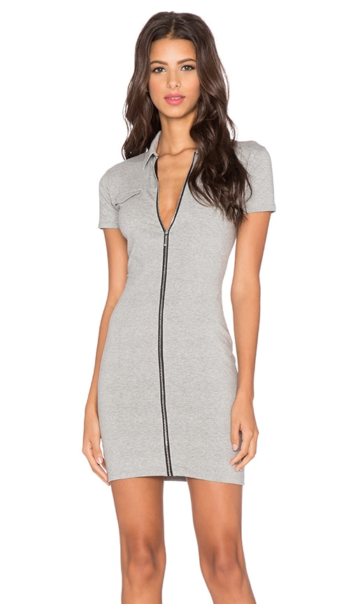 Motel Bourbon Mini Dress in Grey Marl