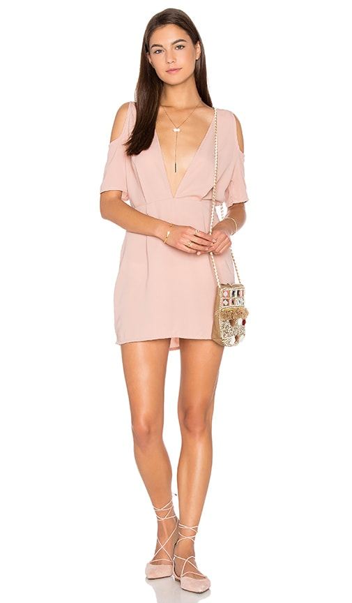 Motel Veratta Dress in Dusky Pink