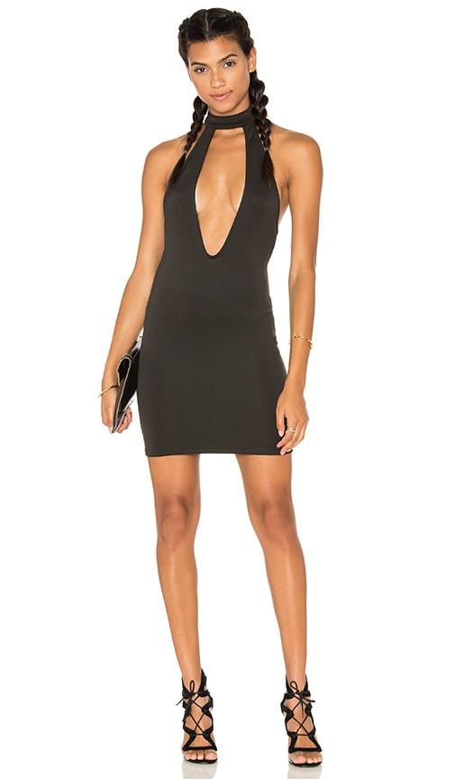 Motel Posses Bodycon Dress in Black