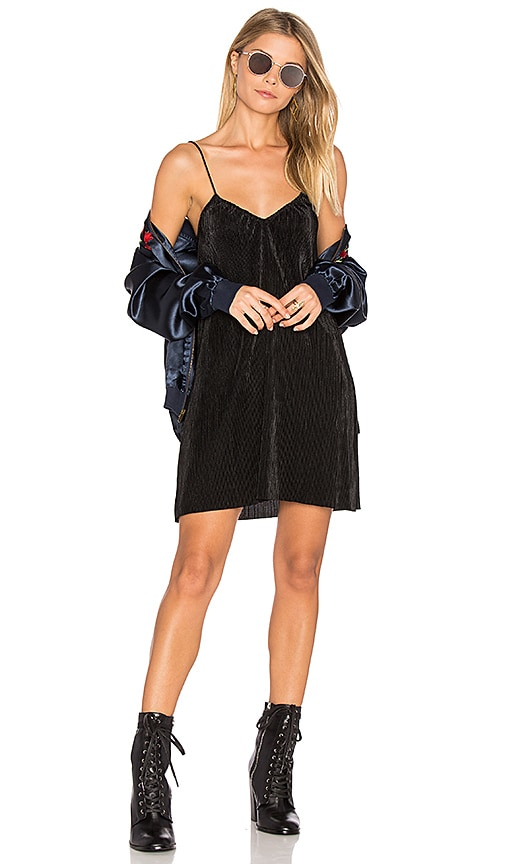 Motel Slip Dress in Black