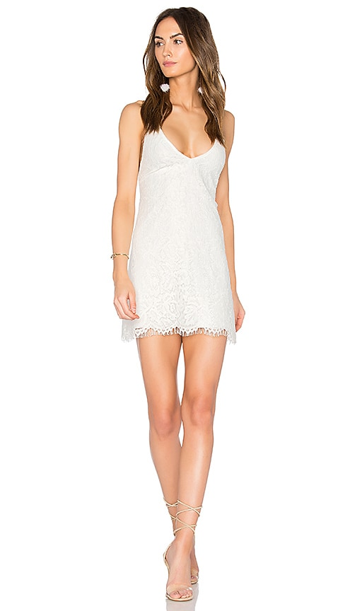 Motel Shine Dress in White