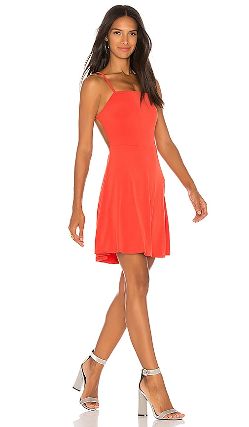 Motel Lucetta Mini Dress in Burnt Orange