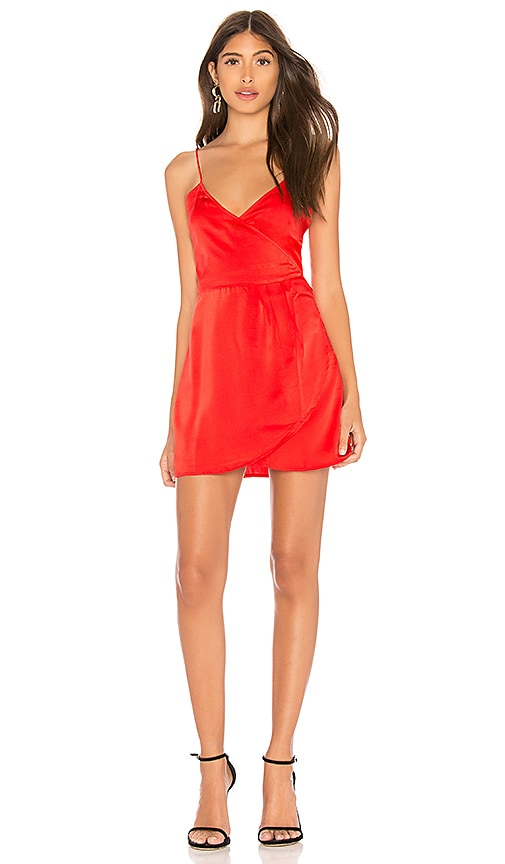 Motel Furia Slip Dress in Red