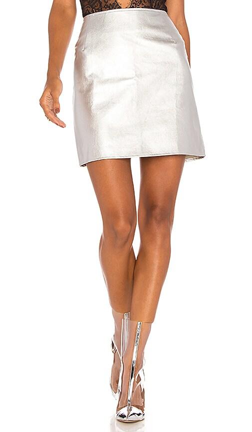 Motel Topaz Mini Skirt in Metallic Silver