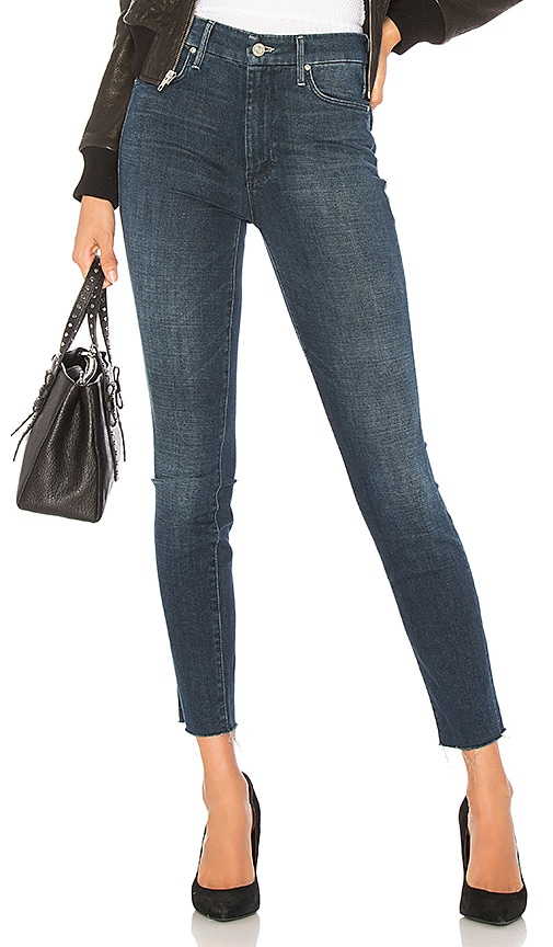 Looker Ankle Fray high-rise jeans Mother w1JgSilHL