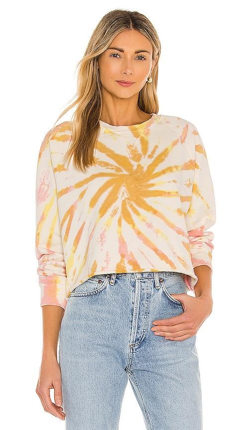 Mother Sweatshirts THE LOAFER CROP FRAY SWEATSHIRT