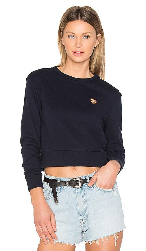 MOTHER x Miranda Kerr Open Your Heart Sweatshirt in Navy