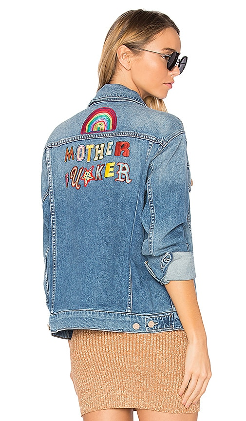 MOTHER The Drifter Jacket in Blue